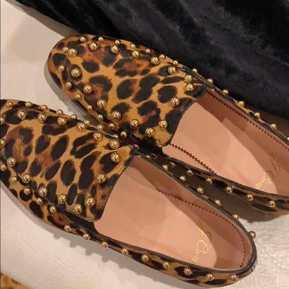 dfa2ffa3954f J. Crew Shoes | Last Chance Jcrew Leopard Calfhair Loafers 7 New ...